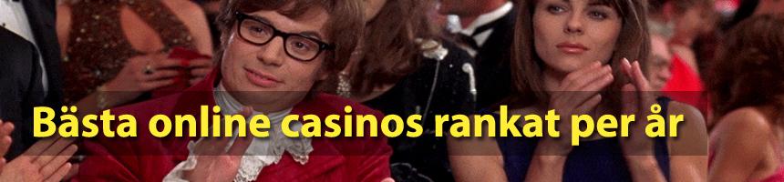 Best online casinos rankat per år