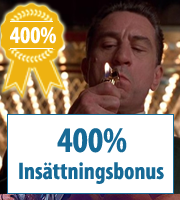 400% kasinobonukset