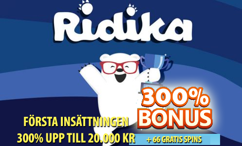 Ridika casino bonus