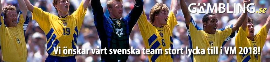 Vi önskar vårt svenska team stort lycka till i VM 2018!