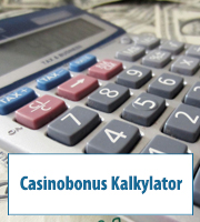 Casinobonus Kalkylator