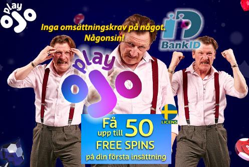 PlayOjo Inga omsättningskrav