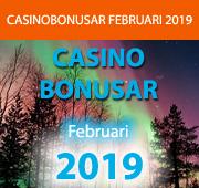 Casinobonusar från Februari 2019