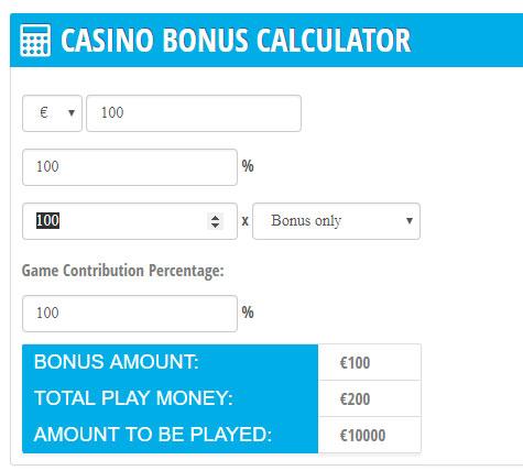 bonus 100 wagering