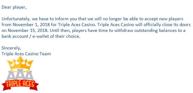 casino closure warning