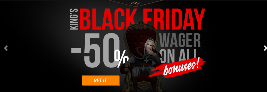 Black Friday på King Billy Casino och Book of Dead Slot