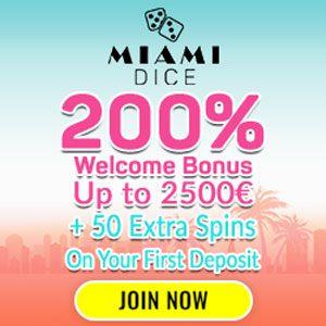 Miami Dice Casino erbjuder över 1000 spel där du kan välja din egna favorit.