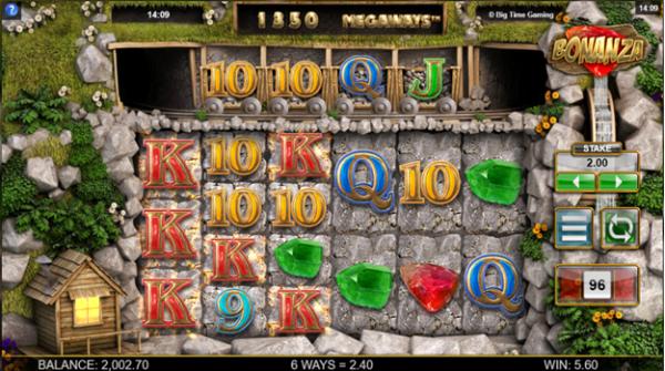 Bonanza slot gameplay