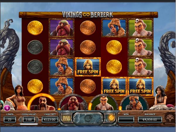 Free Spins in Vikings go Berzerk slot