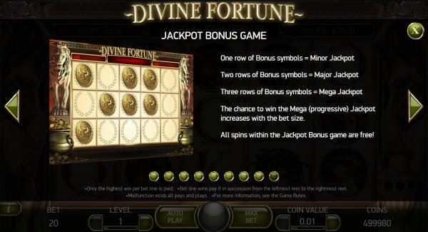Divine Fortune Slot Jackpot Bonus Feature