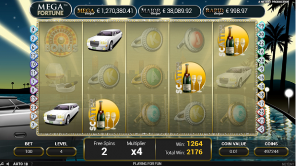 The Free Spins feature in Mega Fortune slot