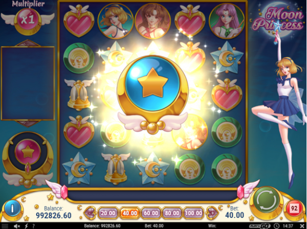Free spins bonus in Moon Princess slot