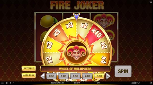 Multipliers in action in Fire Joker slot