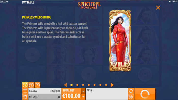 The Wild symbol of the Sakura Fortune slot