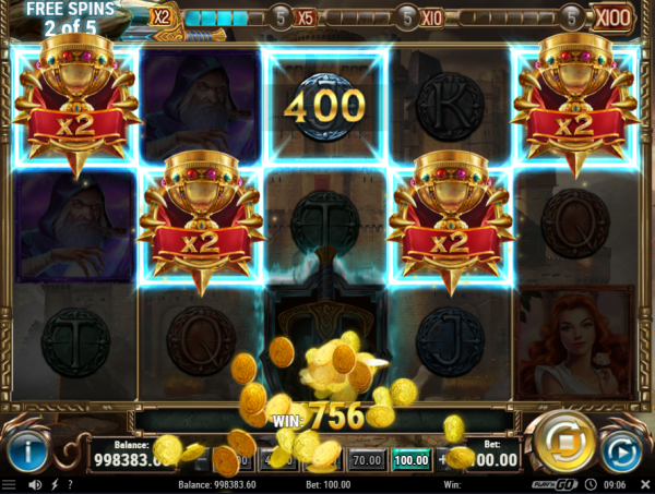 Free Spins on Sword and the Grail slot