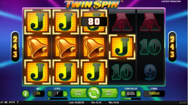 Winning combo on Twin Spin slot