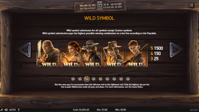 Wild symbols of the Dead or Alive 2 slot
