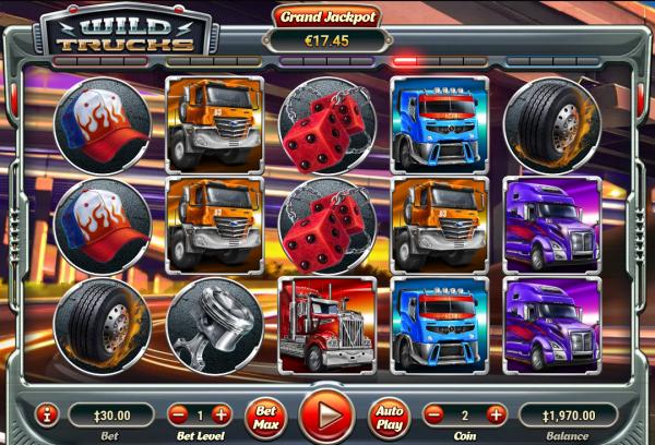Habanero casinos are home to the Wild Trucks progressive slot